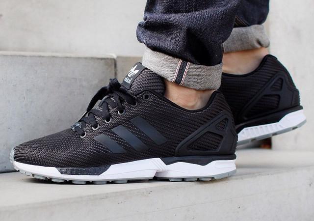 adidas zx flux woven noir
