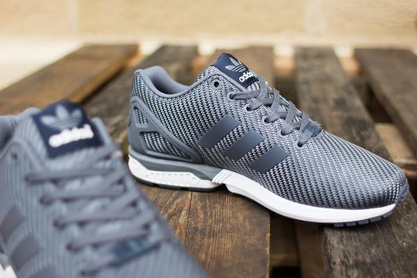 Adidas ZX Flux Ballistic Woven grise et blanche (5)