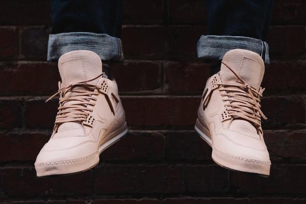 Air Jordan 4 Hender Scheme aux pieds (2)