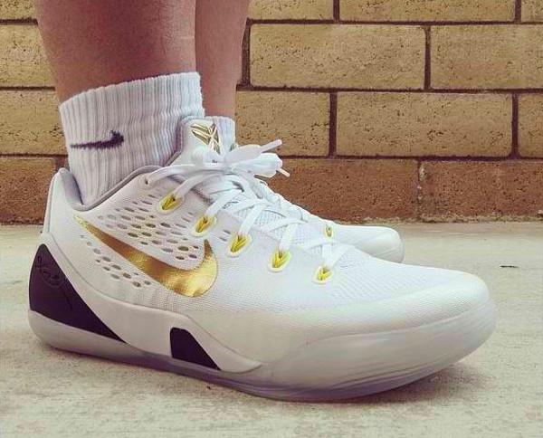 best service 6b690 8e173 Nike Kobe 9 EM ID White Gold - Bruintaf