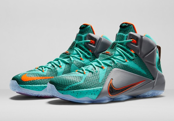 Nike Lebron 12 NSRL (Turquoise Orange) (1)