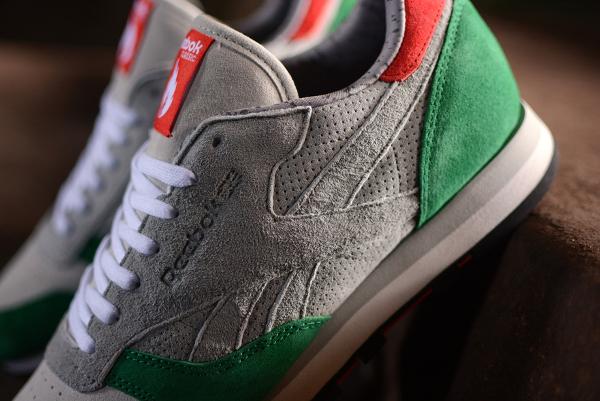 Reebok Classic Leather x Hanon Snowy Grey Basil Green (2)