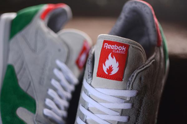 Reebok Classic Leather x Hanon Snowy Grey Basil Green (3)