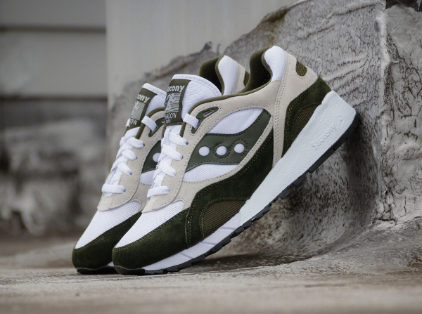 Saucony Shadow 6000 Running Man White Green (2)