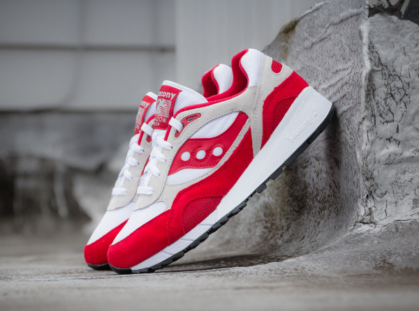 Saucony Shadow 6000 Running Man White Red  (2)