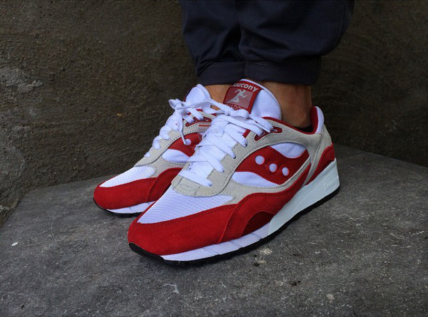 Saucony Shadow 6000 Running Man White Red  (7)