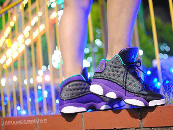 Air Jordan 13 Black Atomic Teal - Japanesediva2