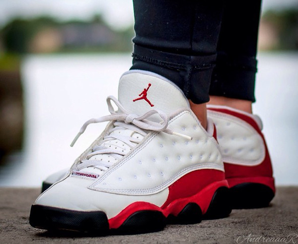 Air Jordan 13 Low White Black True Red - Andreaaar