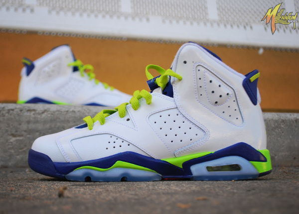 Air Jordan 6 Retro Girls (Fierce Green/Deep Royal Blue)