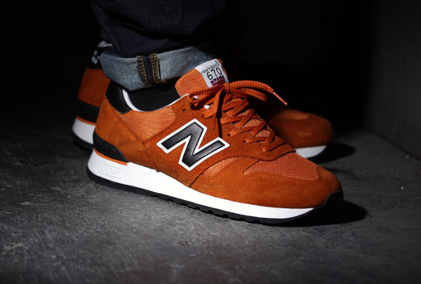 New Balance Marron Et Blanc
