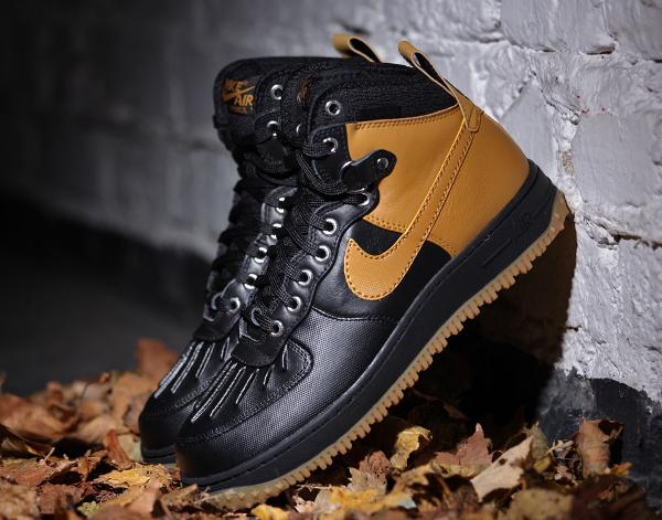 Nike Air Force 1 Duckboot Black Gum Light Brown (3)