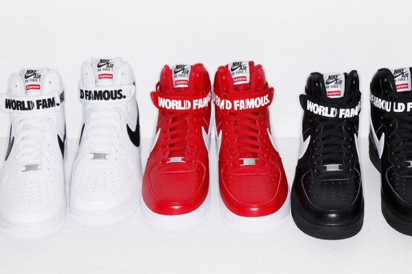 Nike Air Force 1 High x Supreme 'Famous World'-1