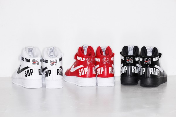 Nike Air Force 1 High x Supreme 'Famous World'