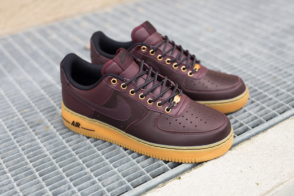 Nike Air Force 1 Low (Deep Burgundy/ Light Brown)