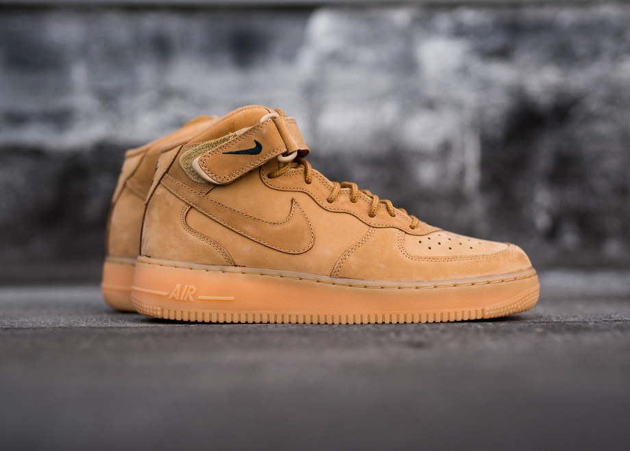 separation shoes 805f1 aa95d Nike Air Force 1 Mid Wheat Flax QS (2)