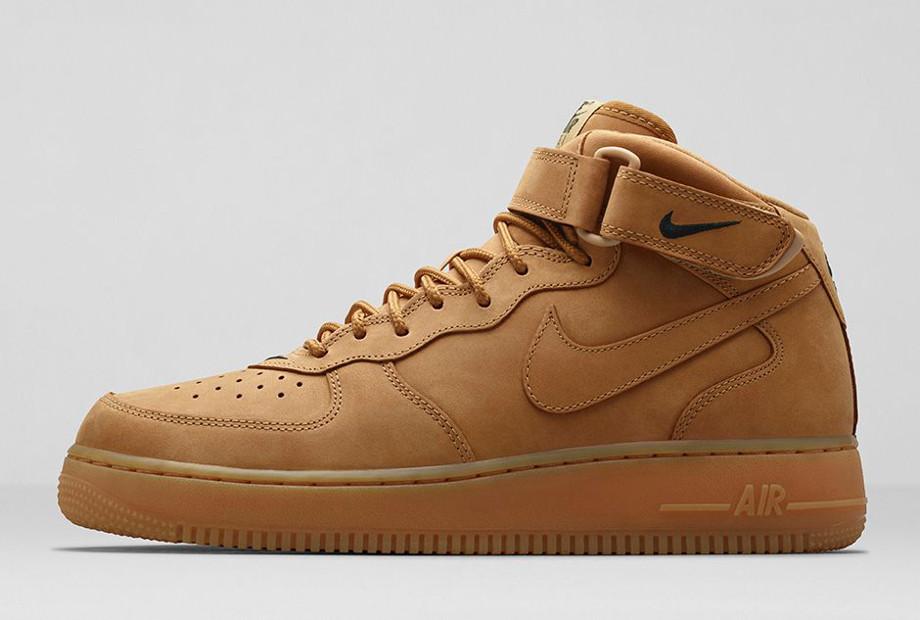 Nike Air Force 1 Mid Flax Wheat photo officielle (1)
