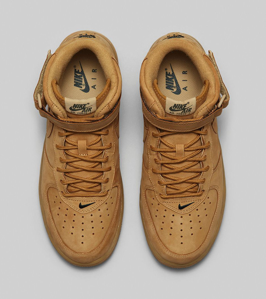 Nike Air Force 1 Mid Flax Wheat photo officielle (3)