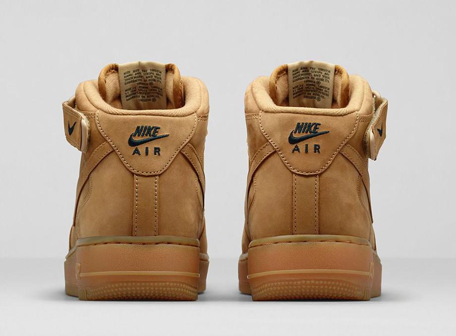 Nike Air Force 1 Mid Flax Wheat photo officielle (4)