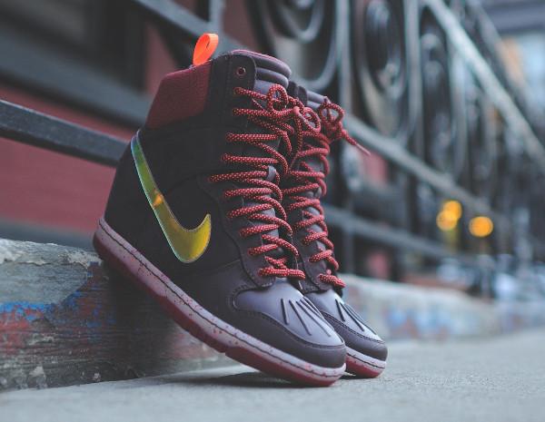 Nike Dunk Sky High Sneakerboots 2.0 (Burgundy Iridescent) (1)