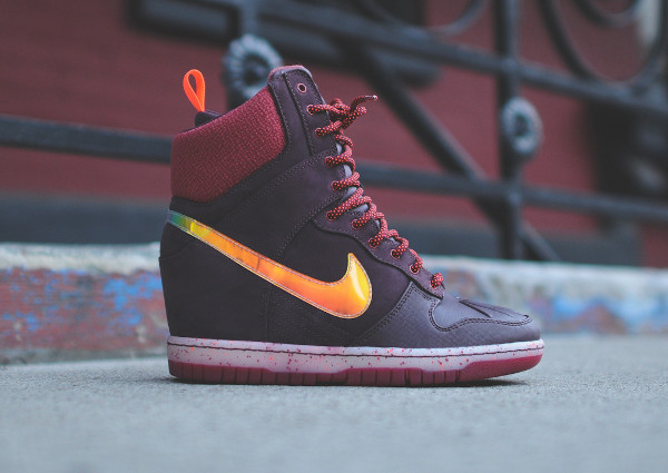Nike Dunk Sky High Sneakerboots 2.0 (Burgundy Iridescent) (2)