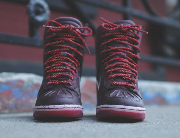 Nike Dunk Sky High Sneakerboots 2.0 (Burgundy Iridescent) (4)