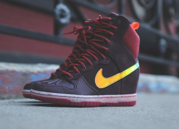 Nike Dunk Sky High Sneakerboots 2.0 (Burgundy Iridescent) (5)