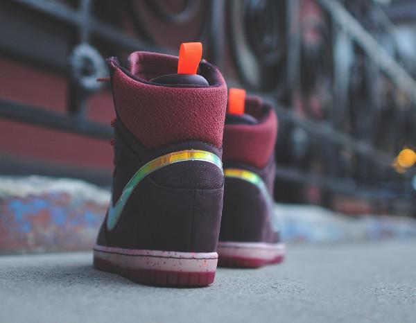 Nike Dunk Sky High Sneakerboots 2.0 (Burgundy Iridescent) (6)