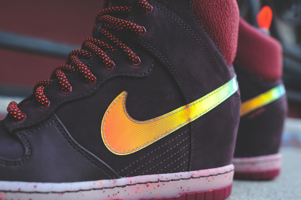 Nike Dunk Sky High Sneakerboots 2.0 (Burgundy Iridescent) (7)
