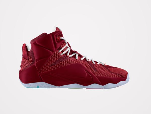 info for fb93f 5745c Nike Lebron 12 ID Burgundy