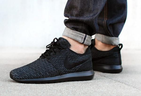 tepie Nike Roshe Run Flyknit Triple Black (1)