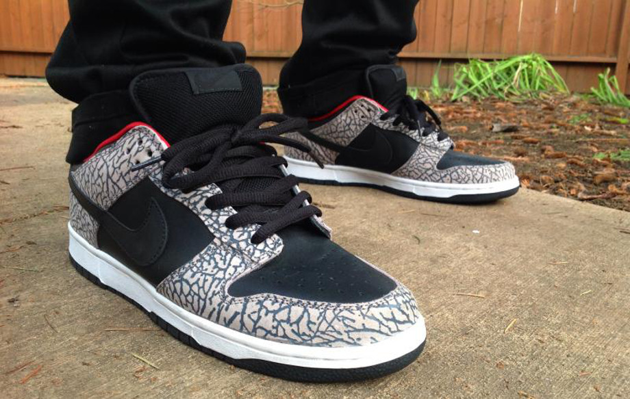 2-Nike Dunk Low SB x Supreme Black Cement - OMG its Brian