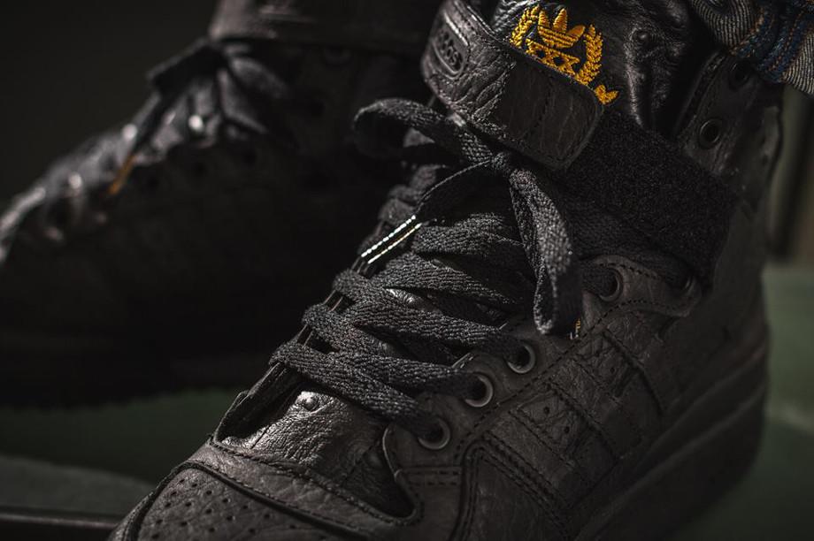 Adidas Original Forum Hi Black Ostrich' (5)