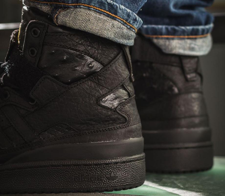 Adidas Original Forum Hi Black Ostrich' (6)
