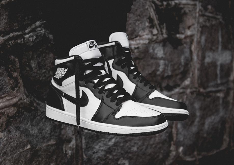 Air Jordan 1 High OG 1985 Black White (Retro 2014) aux pieds (4)