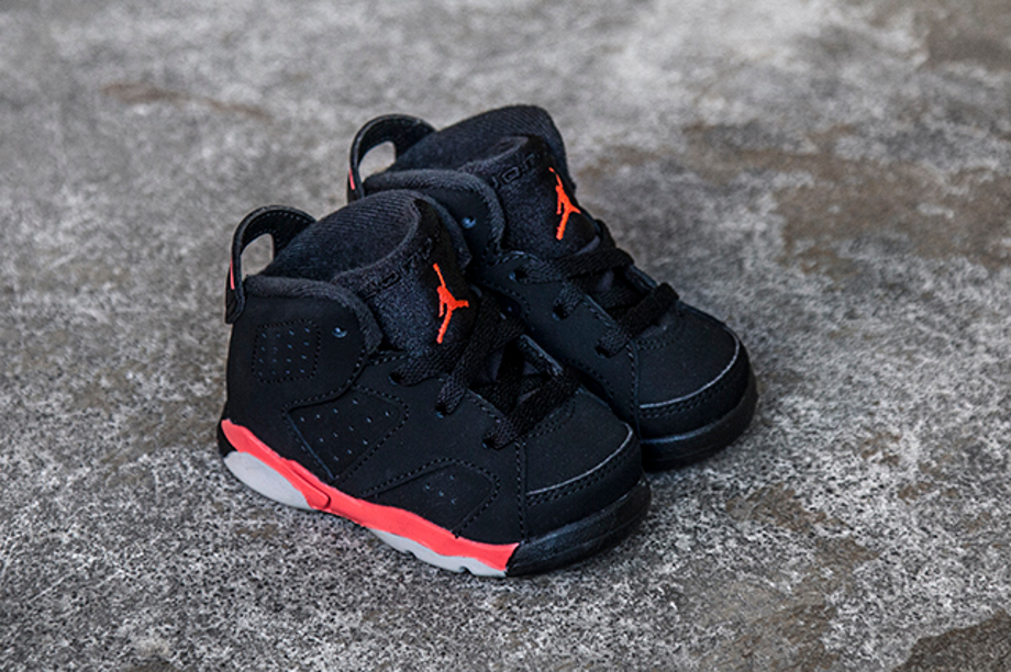 Air Jordan 6 Retro Black Infrared 23 bébé