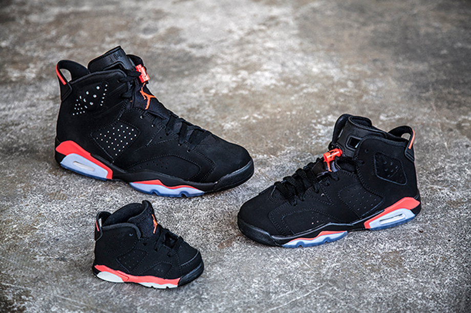 Air Jordan 6 Retro Black Infrared 23 famille