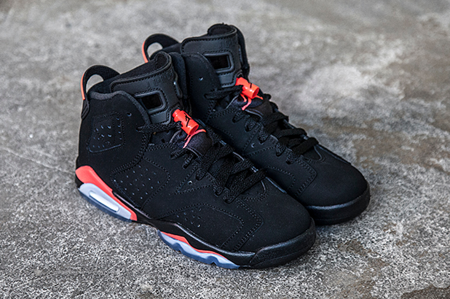 Air Jordan 6 Retro Black Infrared 23 femme et enfant