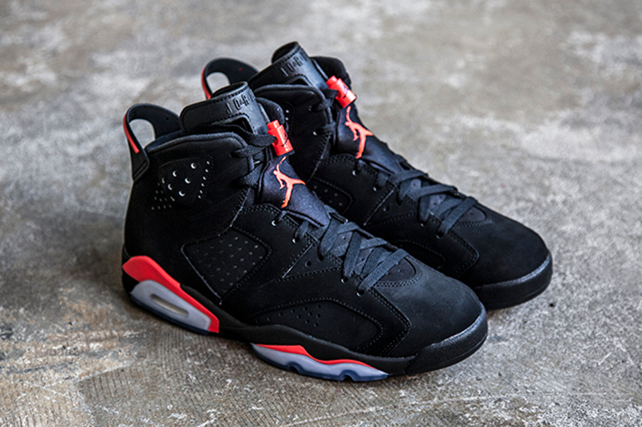 Air Jordan 6 Retro Black Infrared 23 homme