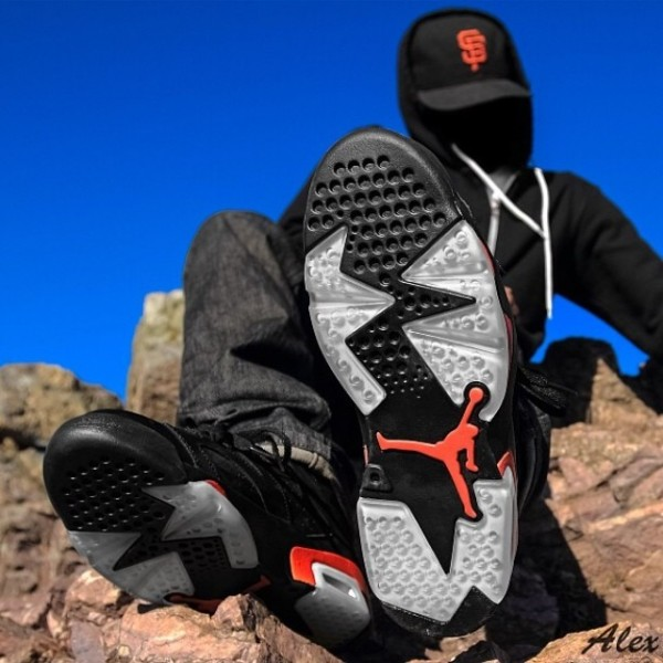 La Air Jordan 6 Retro Black/Infrared en 35 images