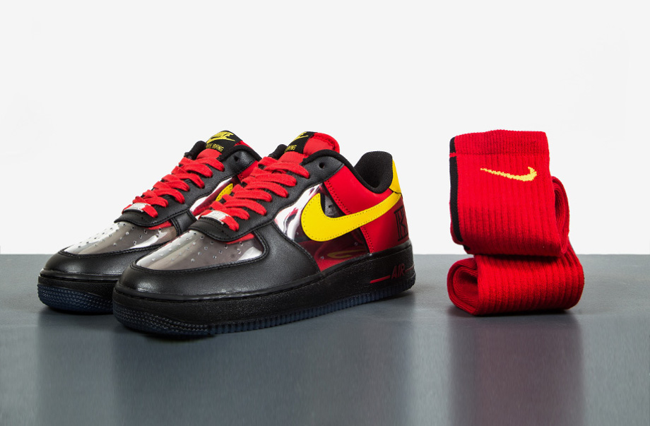 Nike Air Force 1 Low CMFT Signature Kyrie Irving University Red-2