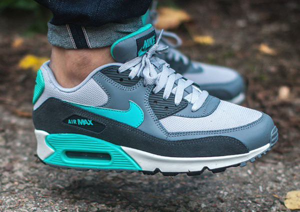 Nike Air Max 90 Essential Cool Grey Hyper Jade (1)