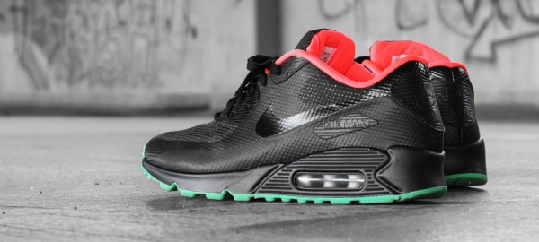 Nike Air Max 90 ID HYP x Air Yeezy 2 'Black Solar Red'