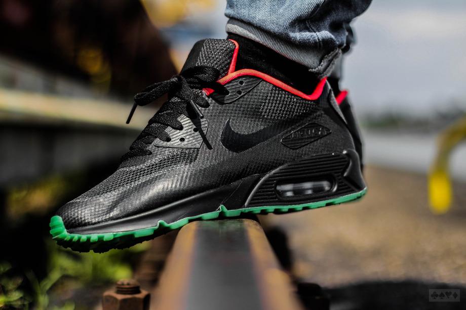 Nike Air Max 90 Hyperfuse ID Yeezy Black Solar Red (9)