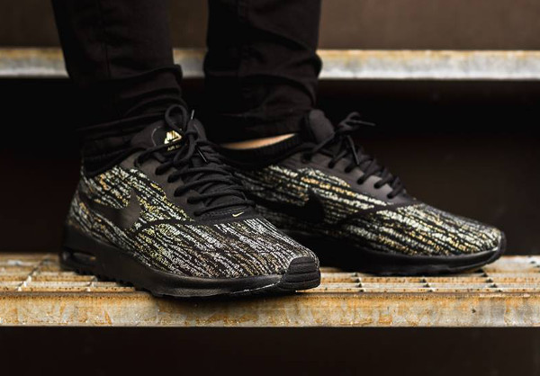 Nike Air Max Thea Jacquard (Black Metallic Gold) (3)