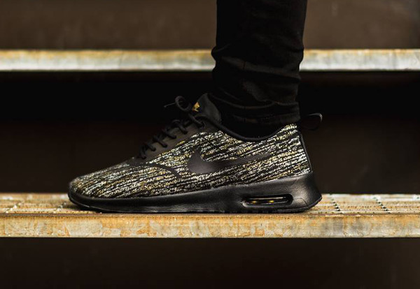Nike Air Max Thea Jacquard (Black Metallic Gold) (5)