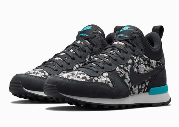 promo code f5ea1 8e0ef Nike x Liberty Internationalist Mid Belmont Ivy Dark Grey-1  Official Women  ...