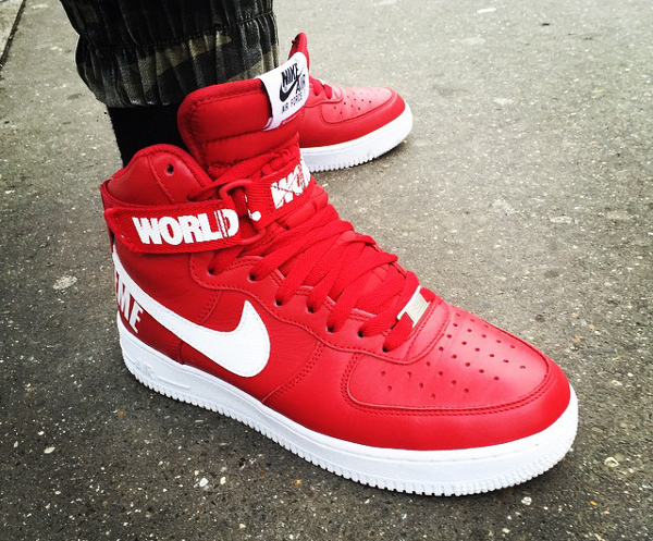 10-Nike Air Force 1 High x Supreme NYC 'Famous World' - Snkrs93
