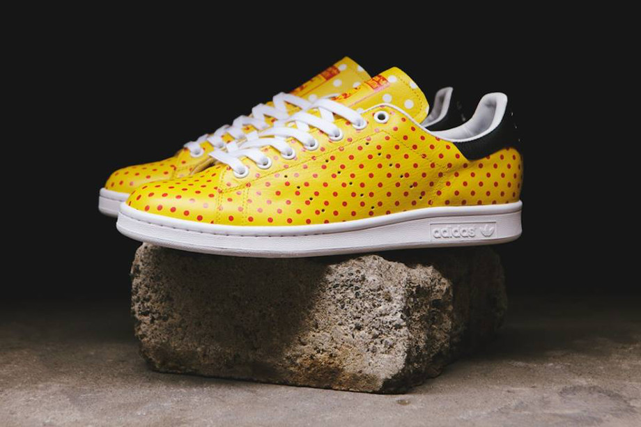 Adidas Originals Stan Smith x Pharrell Williams 'Polka Dots' Yellow (1)