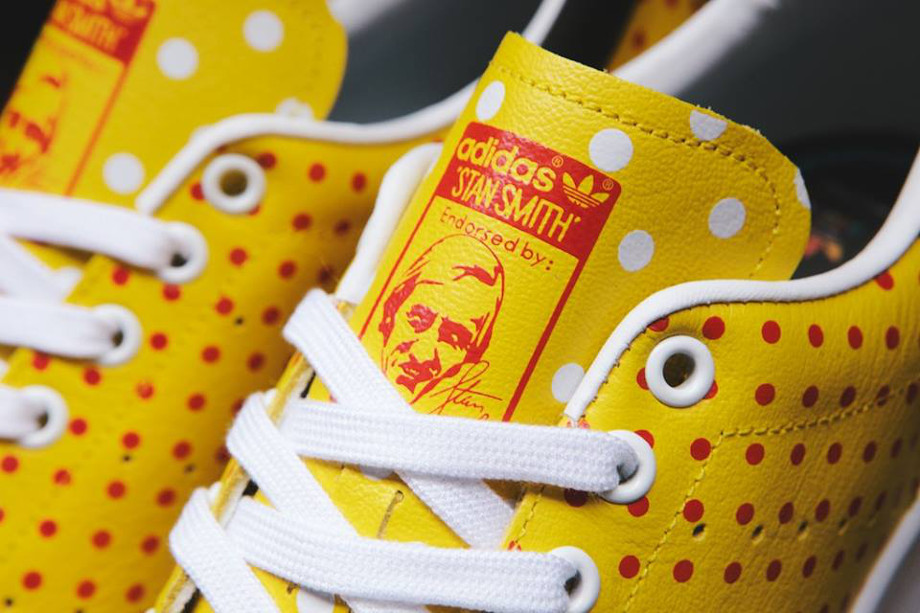 Adidas Originals Stan Smith x Pharrell Williams 'Polka Dots' Yellow (3)