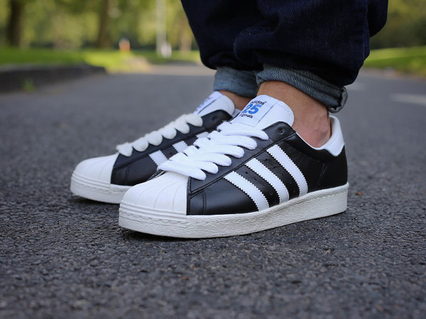 Cheap Adidas Originals Superstar 80s embellished leather sneakers